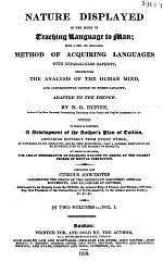 Nature Displayed in Her Mode of Teaching Language to Man