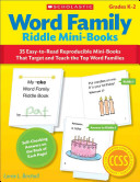 Word Family Riddle Mini Books