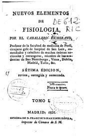 Nuevos elementos de fisiología: Volumen 1