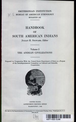HANDBOOK OF SOUTH AMERICAN INDIANS VOLUME 2