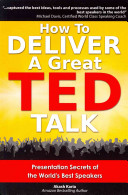 How To Deliver A Great Ted Talk Book PDF
