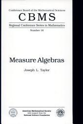 Measure Algebras: Issue 16