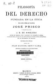 Filosofía del derecho fundada en la ética: derecho individual