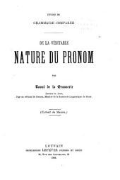 Études de grammaire comparée: Volume2