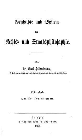 Geschichte und System der Rechts  und Staatsphilosophie PDF