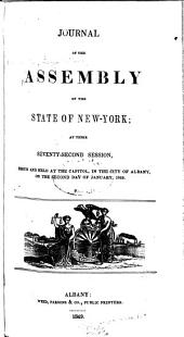 Journal of the Assembly of the State of New York: Volume 1