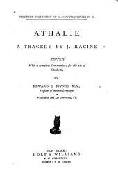 Athalie: a tragedy by J. Racine