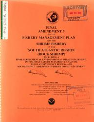 South Atlantic Region Shrimp Fishery Management Plan  Amendment 2  Bycatch Reduction   Exclusive Economic Zone  EEZ   NC FL SC GA  PDF