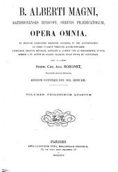 B. Alberti Magni Opera omnia: Volume 34