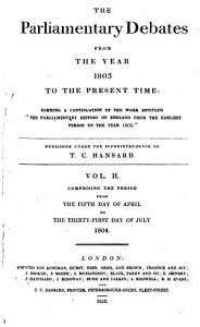 The Parliamentary Debates from the Year 1803 to the Present Time:: 05