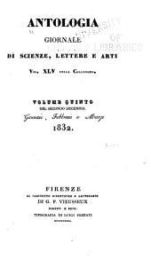 Antologia: giornale di scienze, lettere e arti ..., Volumi 44-46