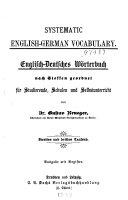 Systemnatic English German vocabulary PDF