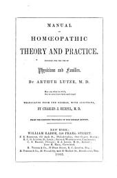 Manual of Homeopathic Theory and Practice