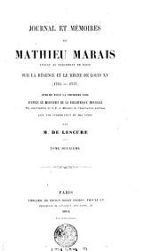 Journal et Memoires de Mathieu Marais