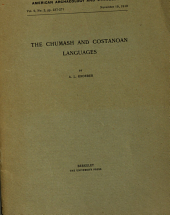 The Chumash and Costanoan Languages: Volume 9