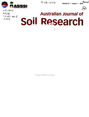 Australian Journal of Soil Research PDF