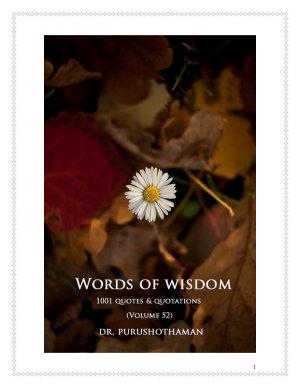 Words of Wisdom (Volume 52)