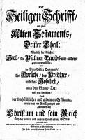 Die    Heilige Schrift    nach dem Grund Text aufs neue uebersehen und Uebesetzt  PDF