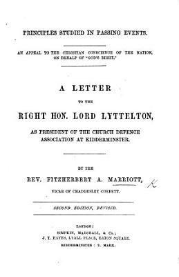 Principles of Legislation for the Church in Ireland  Three letters to     Lord Lyttelton PDF
