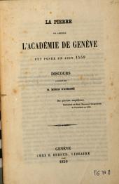 La pierre sur laquelle l'Académie de Genève fut posée en juin 1559