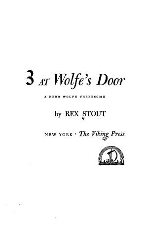 3 at Wolfe s Door