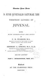 ...D. Iunii Iuvenalis Saturae XIII. Thirteen Satires of Juvenal