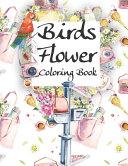 Birds Flower Coloring Book