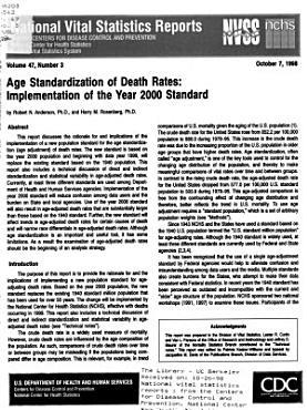 National Vital Statistics Reports PDF