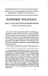 Economie politique: sur la balance des consommations avec les productions