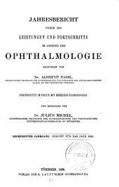 Jahresbericht Ueber Die Leistungen Und Fortschritte Im Gebiete Der Ophthalmologie