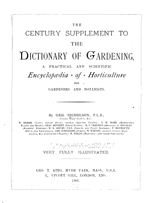 The Illustrated Dictionary of Gardening