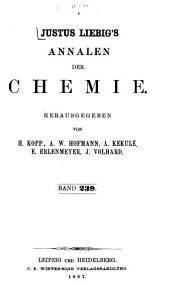 Justus Liebigs Annalen der Chemie: Band 239