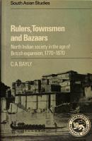 Rulers  Townsmen and Bazaars PDF