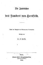 Die Jahrbücher des Lambert von Hersfeld: Band 43
