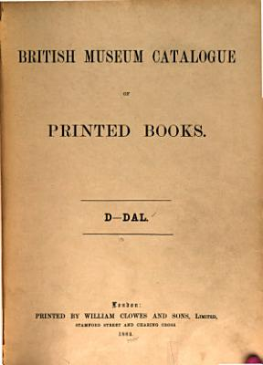 Catalogue of Printed Books PDF