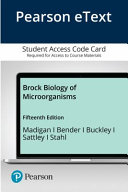 Pearson Etext Brock Biology of Microorganisms Access Card