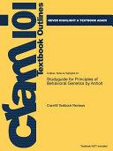 Studyguide for Principles of Behavioral Genetics by Anholt PDF
