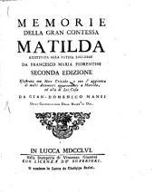 Memorie della gran contessa Matilda