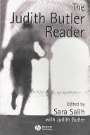 The Judith Butler Reader