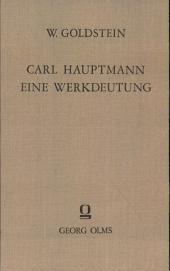 Carl Hauptmann: eine Werkdeutung, Band 65