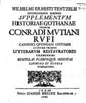 Supplementum Historiae Gothanae: Volume 1