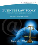 Business Law Today  Standard  Text   Summarized Cases PDF