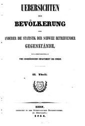 Beiträge zur Statistik der Schweizerischen Eidgenossenschaft: Band 2