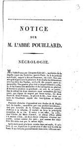 Notice sur M[onsieur] l'abbé Pouillard