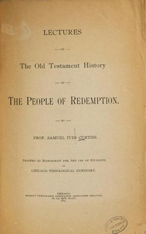 Lectures on the Old Testament History of the People of Redemption