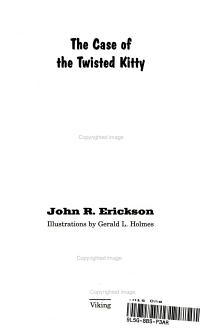 The Case of the Twisted Kitty PDF