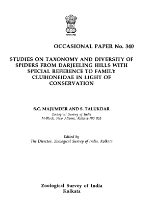 Studies on Taxonomy and Diversity of Spiders from Darjeeling Hills with Special Reference to Family Clubioneidae in Light of Conservation PDF