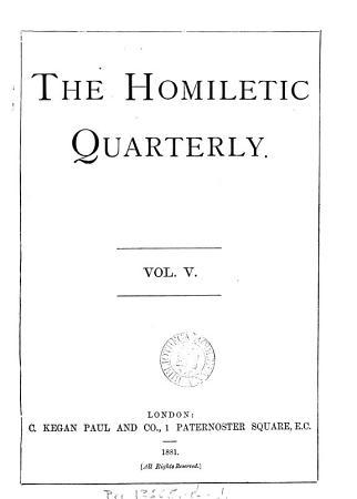 The Homiletic quarterly  afterw   magazine PDF
