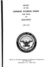 Report of the Defense Science Board Task Force on Readiness