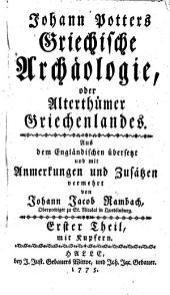 Johann Potters Griechifche Archaologie